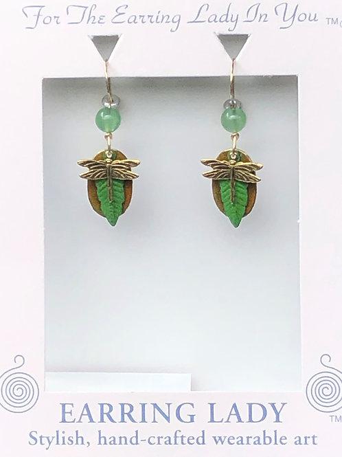 small dragonfly earring