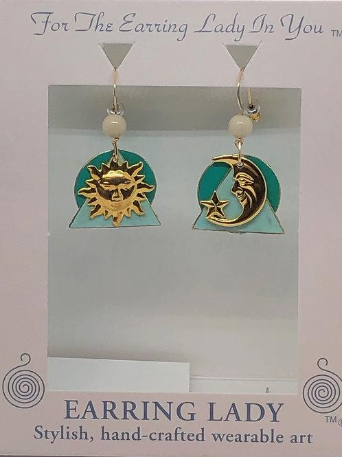 Sun, moon & Star Earrings