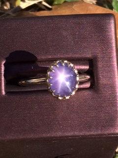 2.61 ct. star sapphire ring