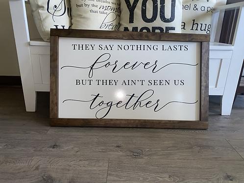 Forever Together 48x 24 Custom Wall Hanger