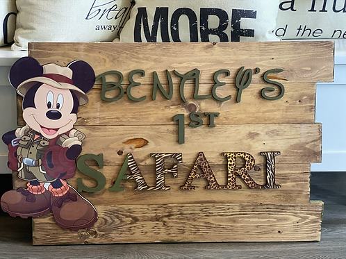 Custom Party Sign- Character and words vary.