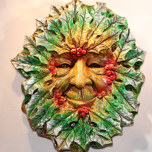 Large Winter Greenman Plaque