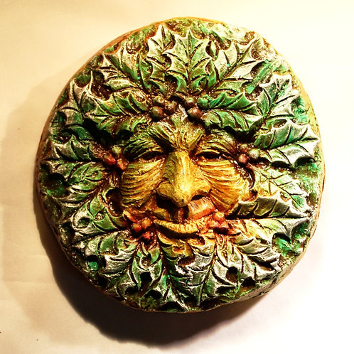 Winter Greenman Plaque