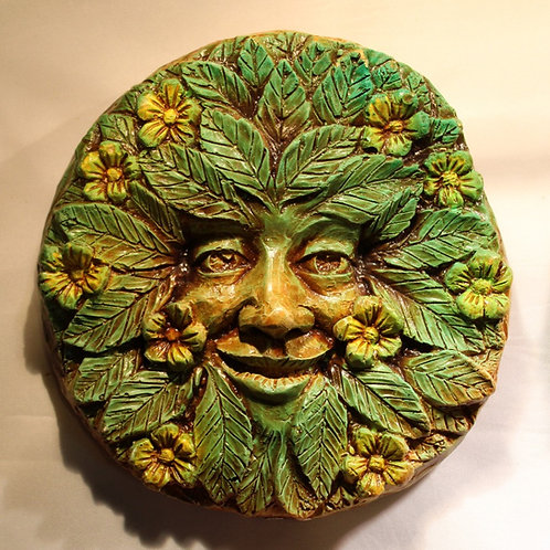 Spring Greenman Plaque