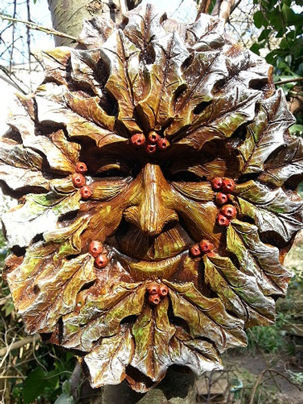 Large Winter Greenman Plaque WHOLESALE