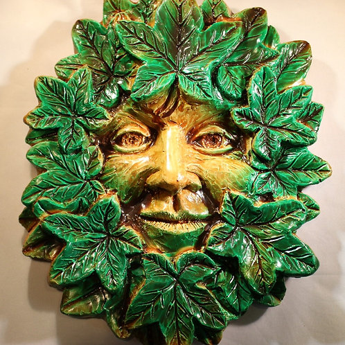 Large Summer Greenman Plaque WHOLESALE