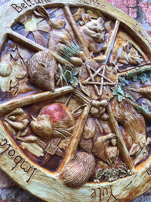 Animal Themed Pagan Wheel of the Year Plaque