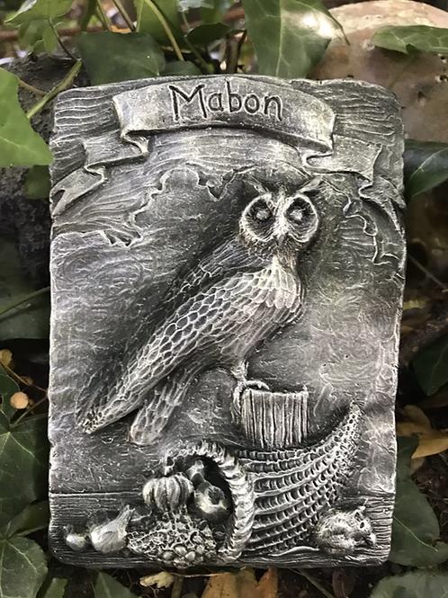 Mabon Owl Sabbat animal plaque