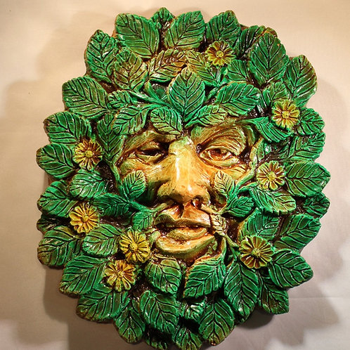Large Spring Greenman Plaque