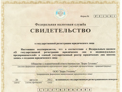 Гос. регистрация Борн-Техникс