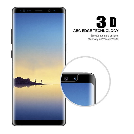 Galaxy Note 8 Screen Protector Premium Tempered Glass  perfectly curved to fit