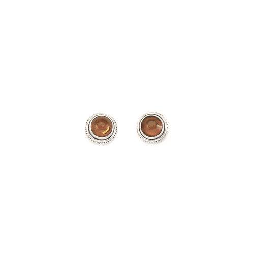 PE58 Amber Rope Post Earrings