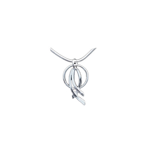 NI286 Sterling Silver Crossing Curves
