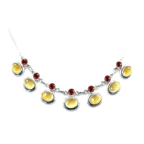 NI78 Oval Drops Necklace
