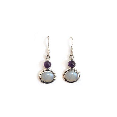 E194A Circle | Oval Drop Earrings