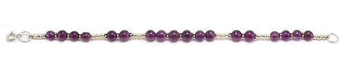 B40 Amethyst Single Strand Bracelet