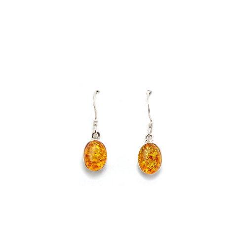 E157 Warm Oval Drop Earrings