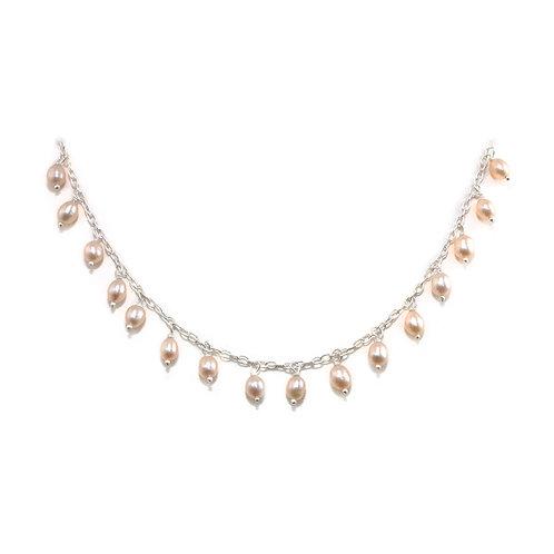 NI115 Pink Freshwater Pearl Drops