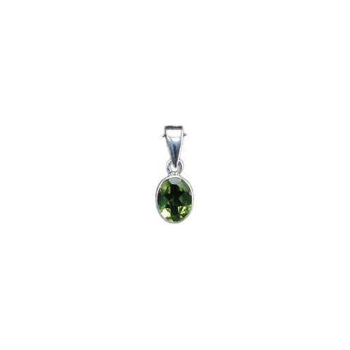 P150A Faceted Peridot Pendant