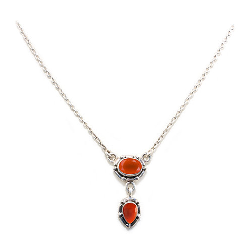 NI120 Faceted Tear Drop Necklace