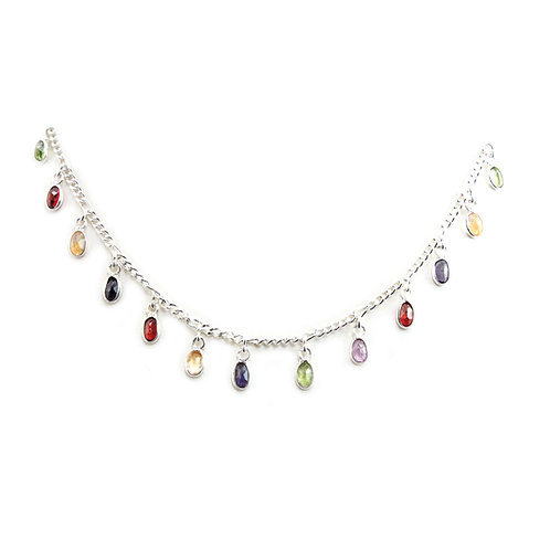 N161 Rainbow Drops Necklace