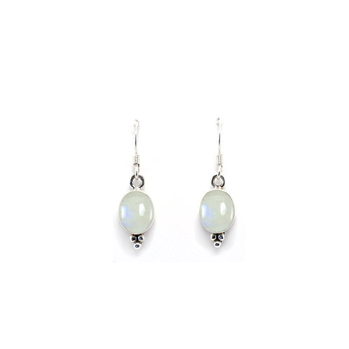 E132A Drop Oval Earrings