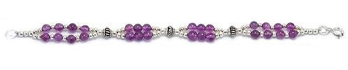 B40B Amethyst Double Strand Bracelet