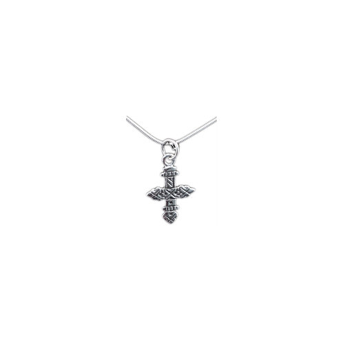 P115 Small Sterling Engraved Cross Pendant