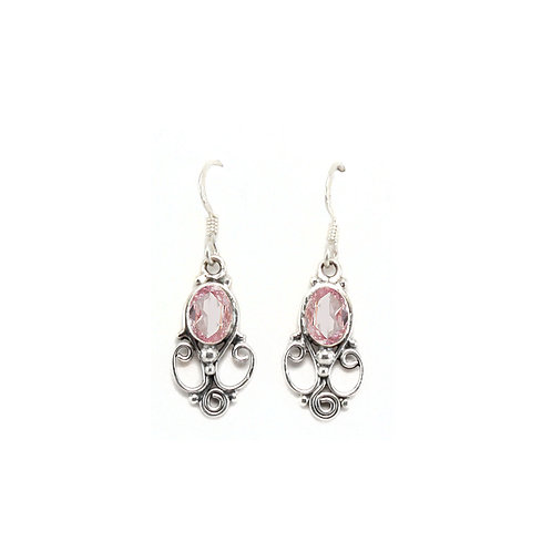 E83 Ornate Oval Drop Earrings