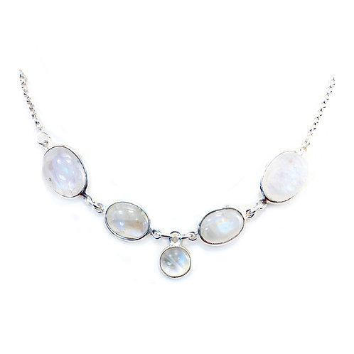 NI56 Rainbow Moonstone Necklace