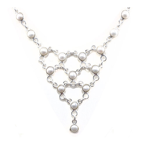 NI154 Pearl Lace Necklace