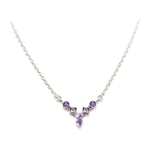 NI121 Faceted Geometric Necklace
