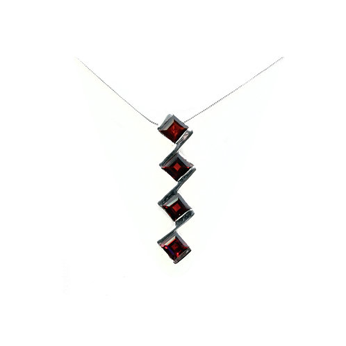 NI260 Faceted Squares Necklace