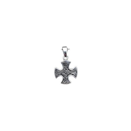 P114 Small Sterling Celtic Cross Pendant