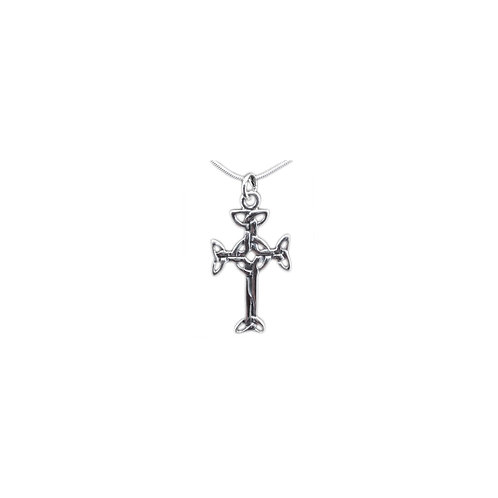 P113 Sterling Celtic Cross Pendant