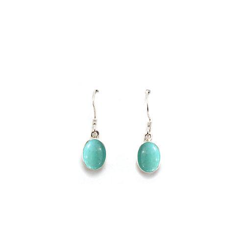 E157 Cool Oval Drop Earrings