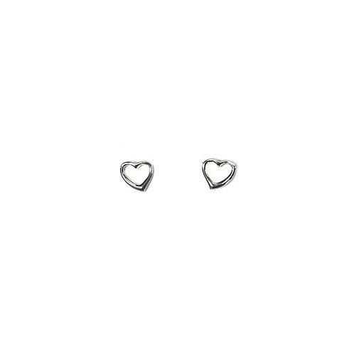 PE65 Silver Heart Post Earrings
