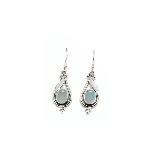 E123A Tear Drop Oval Earrings