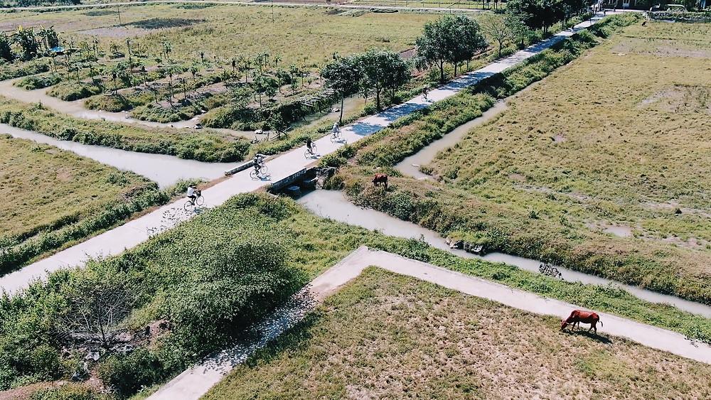 Biking at Viet Hai Village