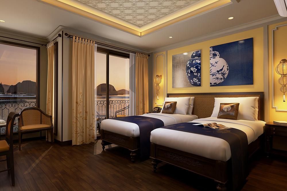 Indochine Cruise Junior Suite cabin