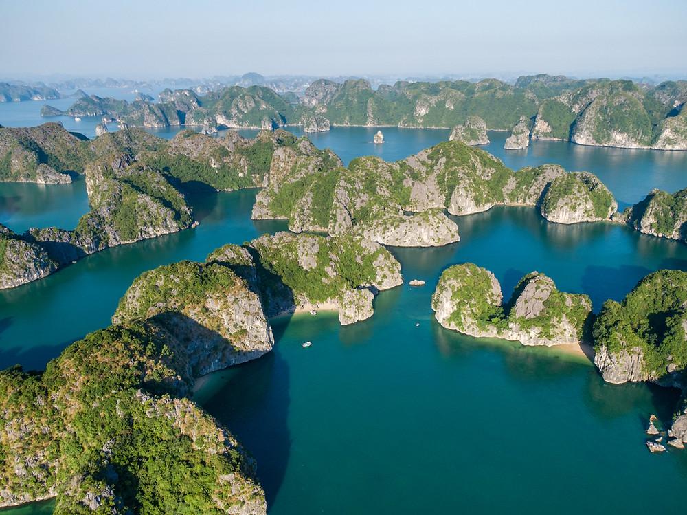 Ba Trai Dao in Lan Ha Bay by Indochina Sails