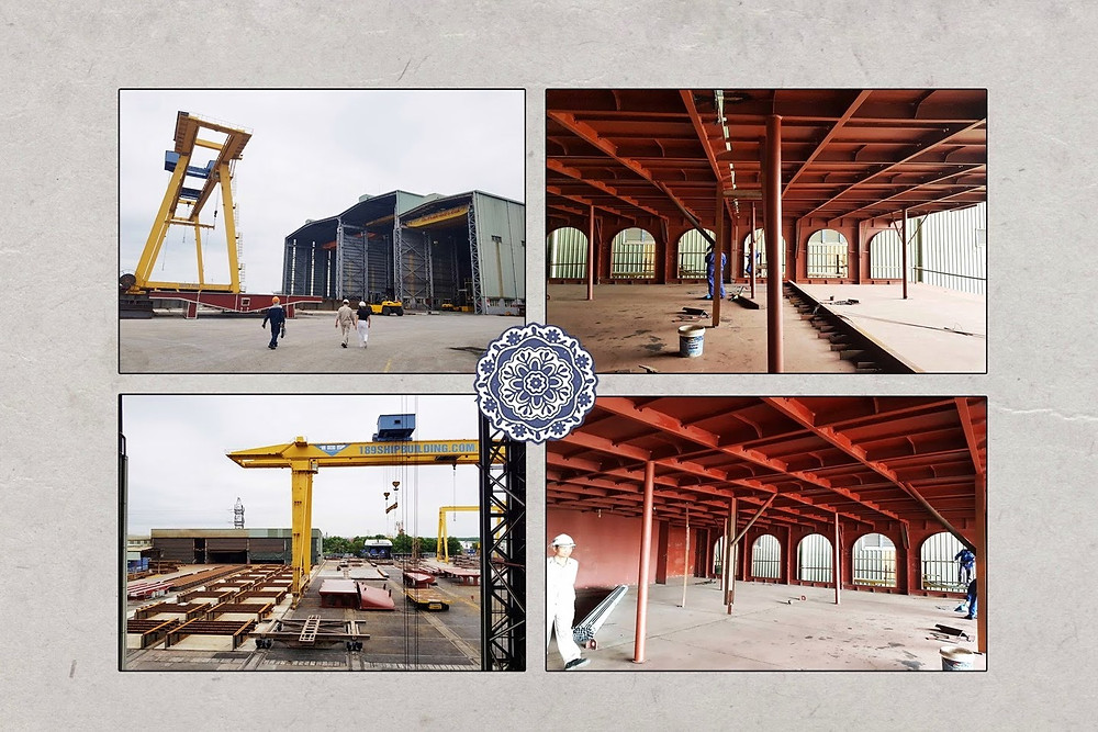 Indochine Cruise building process