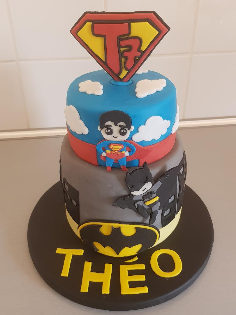 Gâteau Superman Batman