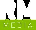 White Rebel Minded Media logo(white fill