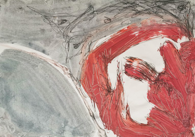 Acrylic and pencil on paper 40x29 cm
