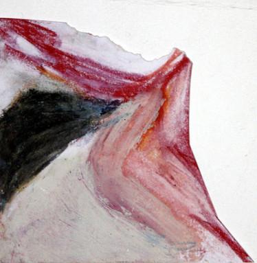 Mixed media on paper Irregular shape  09x09 cm on the longer side