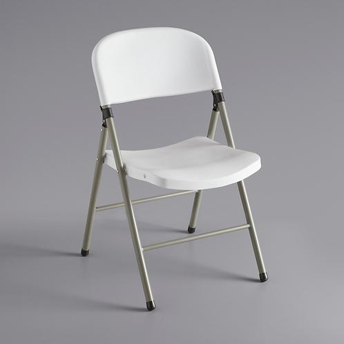 Contoured White Folding Chair