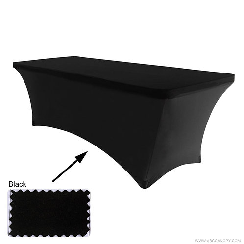 6ft folding table and black tablecloth - $25/day