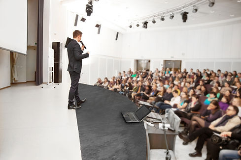 Speaker At Business Convention And Prese