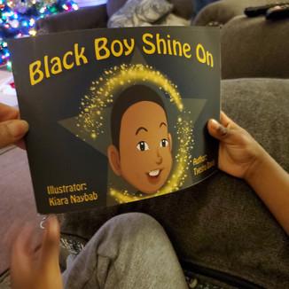 1st printed copy of Black Boy Shine On